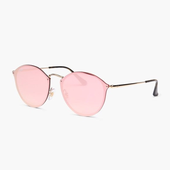 68565273d9 NEW    Ray-Ban Blaze Round Pink Sunglasses